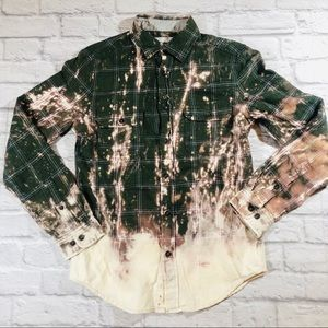 Vintage Goodfellow Distressed Acid Wash Flannel SM